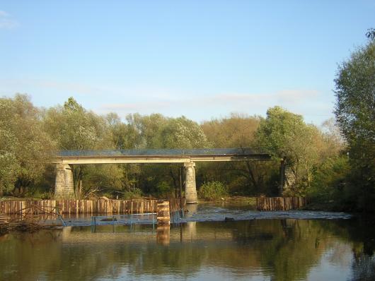 Тьмацкий перекат 8 лет назад. Строительство плотины.